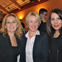 """Nilüfer Aktürk (""""Frauen für Frauen e.V."""",Erlenbach/Main), MdL Martina Fehlner und Bilkay Öney (Integrationsministerin Baden-Württemberg)"""