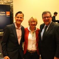 Prof. Dr. Martin-Niels Däfler, MdLs Martina Fehlner und Volkmar Halbleib