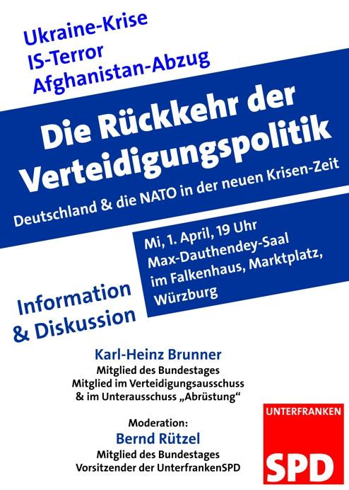 NATO-Veranstaltung am 1. April in Würzburg