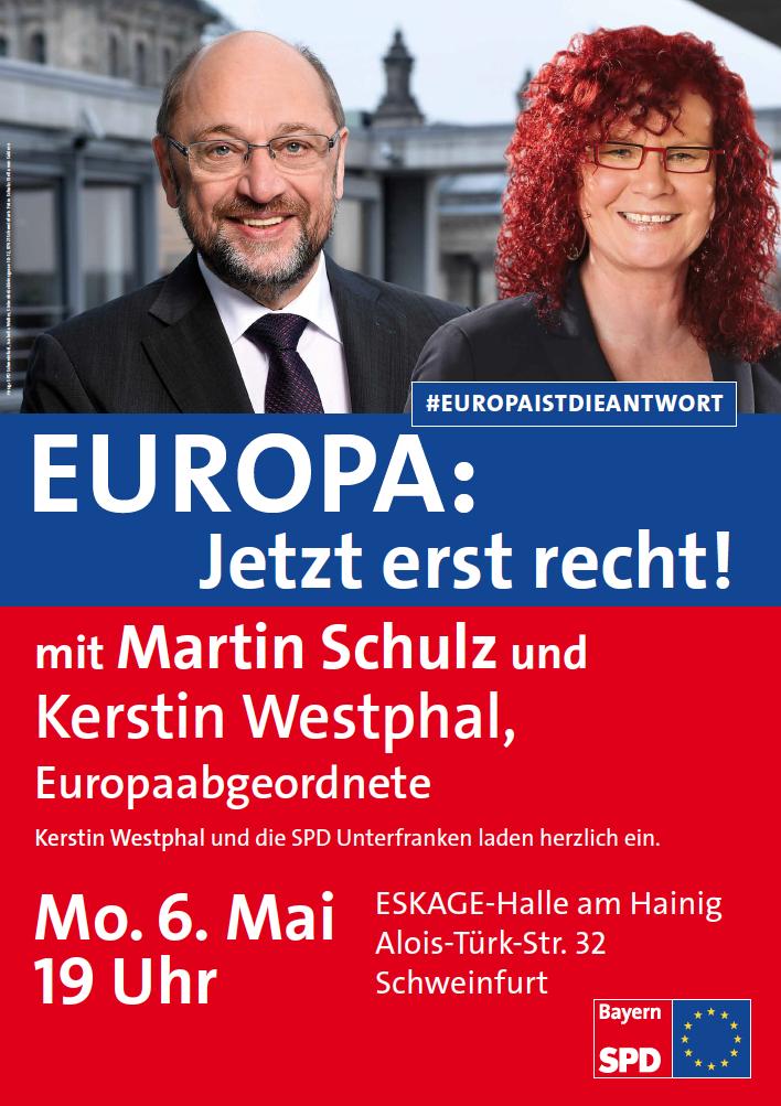 Plakat Veranstaltung Westphal Schulz Schweinfurt