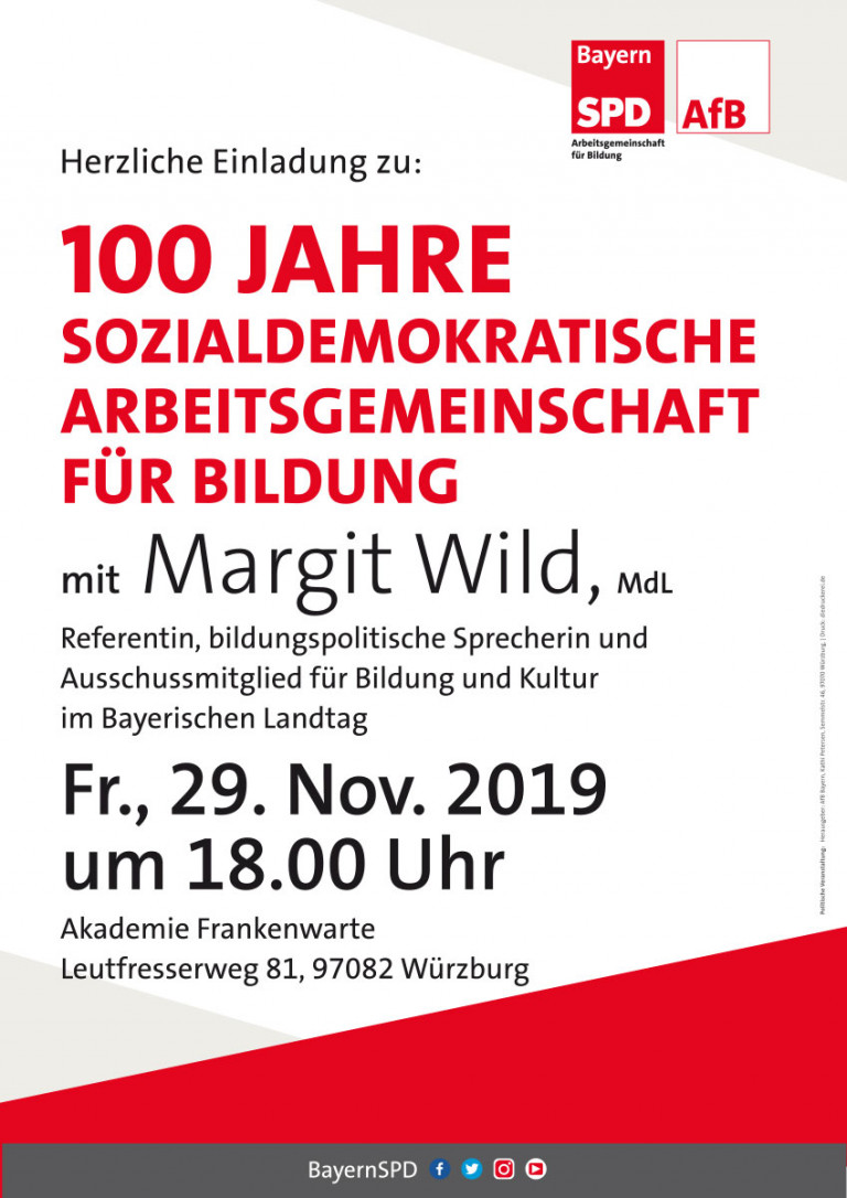 Plakat 100 Jahre AfB